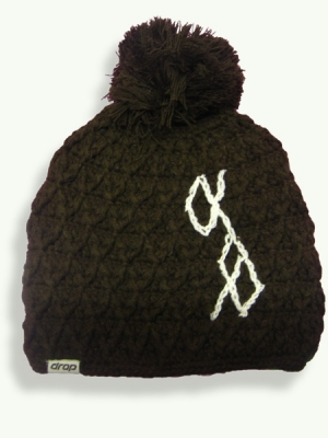 Cross Pom, dark brown