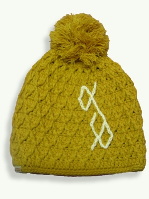 Cross Pom, yellow