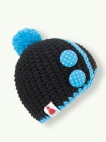 Button Bay - black/laguna blue